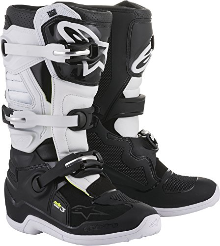 Alpinestars Tech 3 Stella Women's Motocross Off-Road Motorcycle Boots 2018 Version Black/White, Size 9 ()
