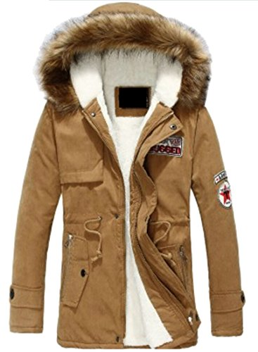Fur Mens Hooded Long Faux Lining M amp;W Sleeve Coat 2 amp;S Outwear nHqFwxXA