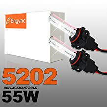 Engync® 55W 5202 (H16) Xenon HID Replacement Bulbs | HID Xenon Headlight Bulb Hi/Low 6000K Diamond White Color| 3 Years Warranty