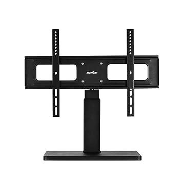 Unho Meuble Télé Pied Support Tv Pivotant Design Universel Pour Tv Led Lcd Pc Plasma Téléviseur De 27 à 65 Pouce Réglable En Hauteur Capacité Max 60