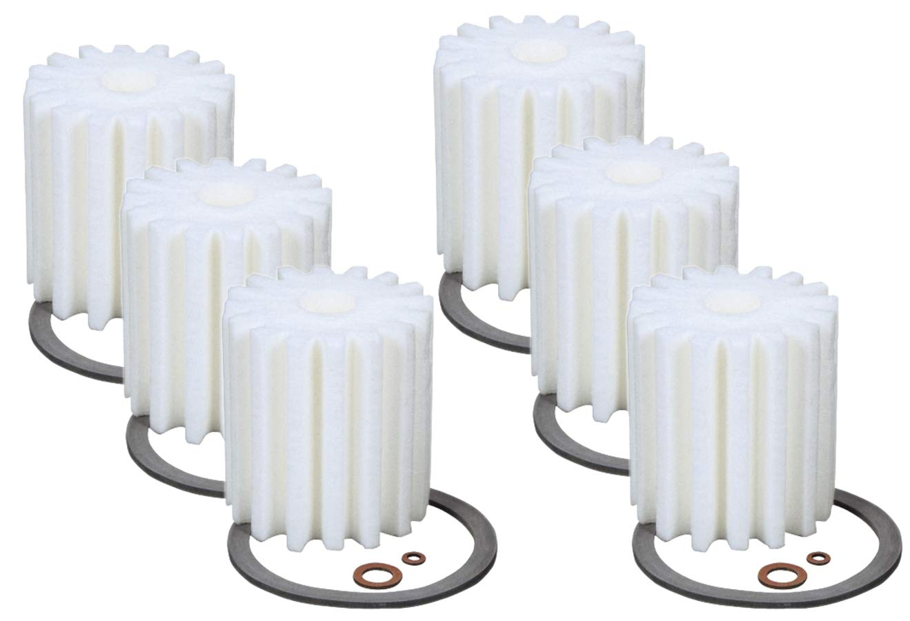 6 (Six) RF-1 Micron Rated Fuel Oil Filters Canister w/Gaskets Fit 1A-25A 77B Eddington S-254 Sears 8055 Mitco 264 AutoFlo F-300