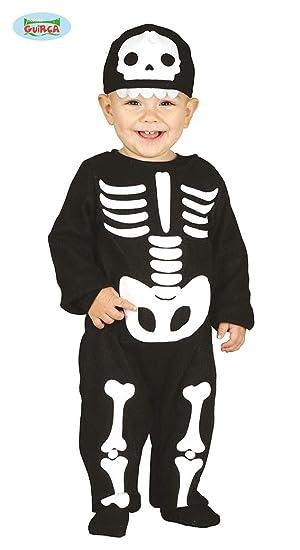Guirca Rudy Traje de Esqueleto para niño 12/24 Meses, Color Negro ...