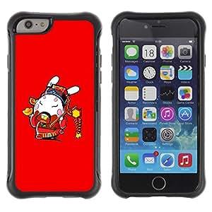 Suave TPU GEL Carcasa Funda Silicona Blando Estuche Caso de protección (para) Apple Iphone 6 / CECELL Phone case / / Funny Awesome Japanese Warrior /