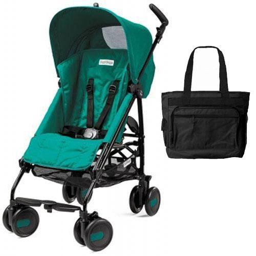 Peg Perego Pliko Mini Stroller with Diaper Bag - Aquamarine