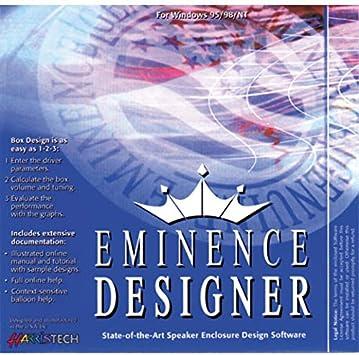 Amazon Com Eminence Designer Software Box Design Software Development Musical Instruments