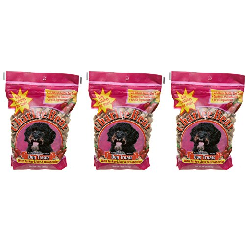 Charlee Bear Dog Treats with Turkey Liver & Cranberries (3 Pack) 16 oz Each
