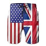 I Like Exercise USA British Flag Summer Casual Quick-Dry Cargo...