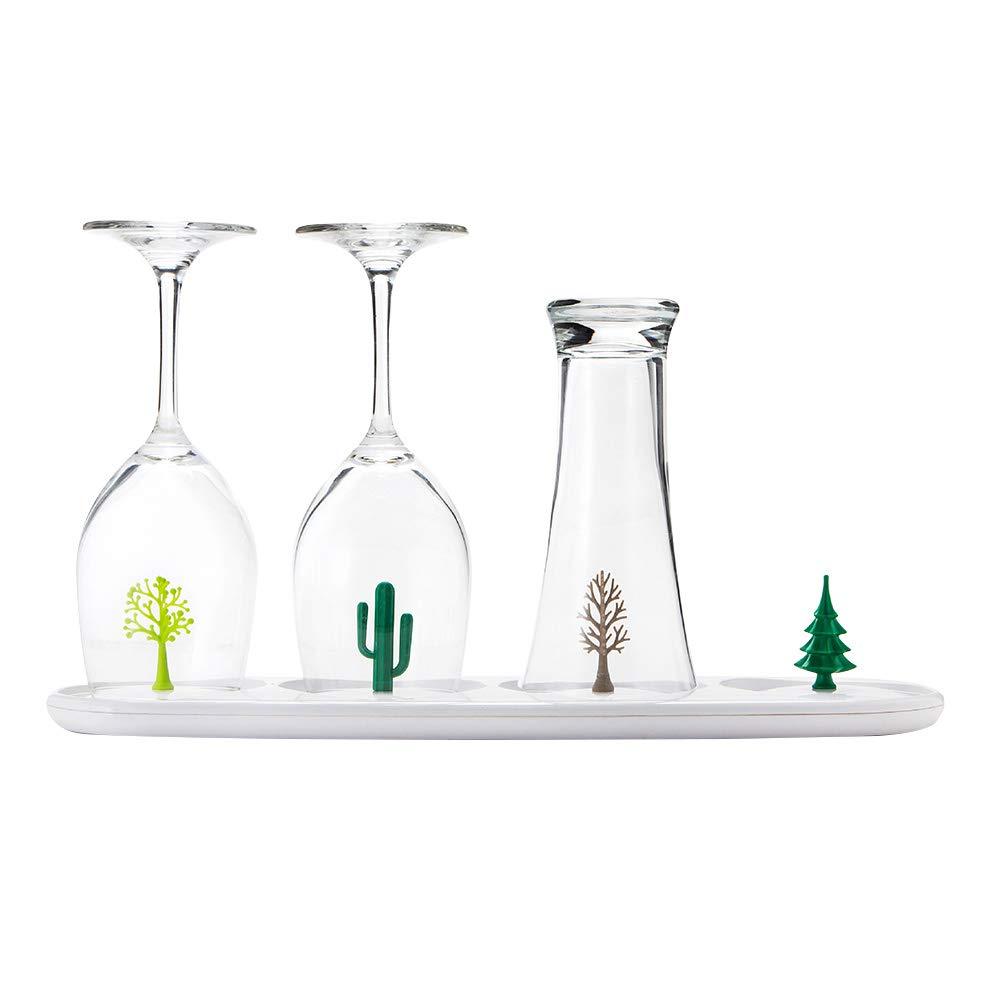 BESTONZON Babyflaschen Trockenständer Flaschenständer Abtropfgestell für Flaschen Hygienisches Trocknen von Babyflaschen Schnullern und Geschirr (Zufallsmuster)
