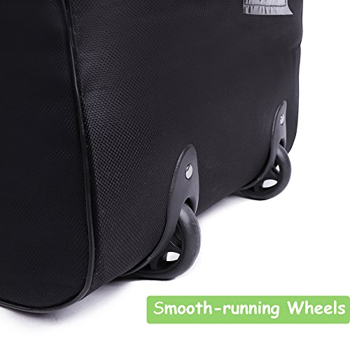 cherrboll Stroller Car Seat Travel Bag with Wheels - Gate Check Cover for Standard Strollers Baby Carseat Infant Booster - Large Rolling Duffel for Airplane Train, Hands Free by cherrboll (Image #3)