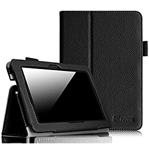 """Fintie Folio Case for Fire HDX 7 - Slim Fit Leather Standing Protective Cover with Auto Sleep/Wake (will only fit Kindle Fire HDX 7"""" 2013), Black"""