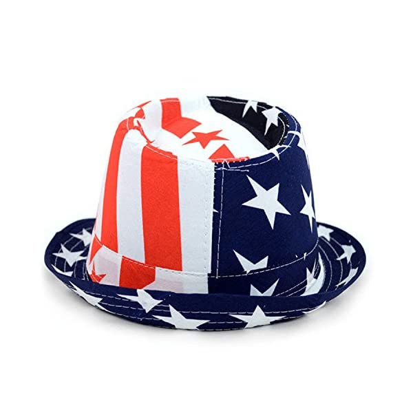 American Hat with Stars and Stripes