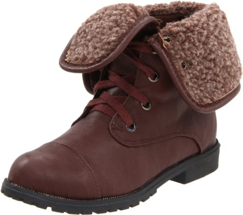 Wanted Shoes Mitz Lace-Up Boot (Little Kid/Big Kid) - stylishcombatboots.com