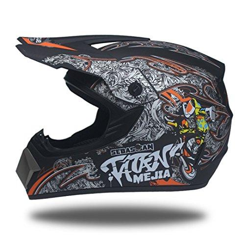 Motorcycle Helmet Man Motorcycle Helmet Top Motocross Motocross Helmet 2a L (Novelty Hawk Helmet)