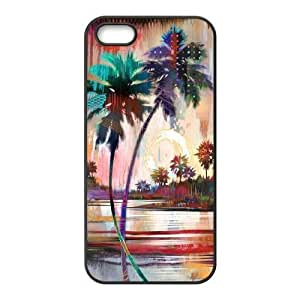 DIY Cover Case for iPhone 5,iPhone 5s w/ Palm Trees image at Hmh-xase (style 8) by waniwa