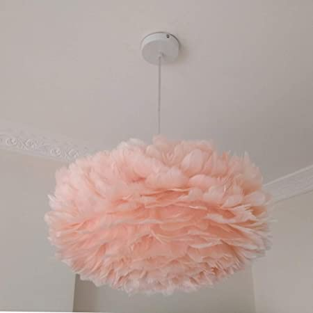 Feather White Ceiling Pendant Light Shade 4 Colors Choose Simple Luxury  White E27 Lampshade Floor Lamp fe4c503900