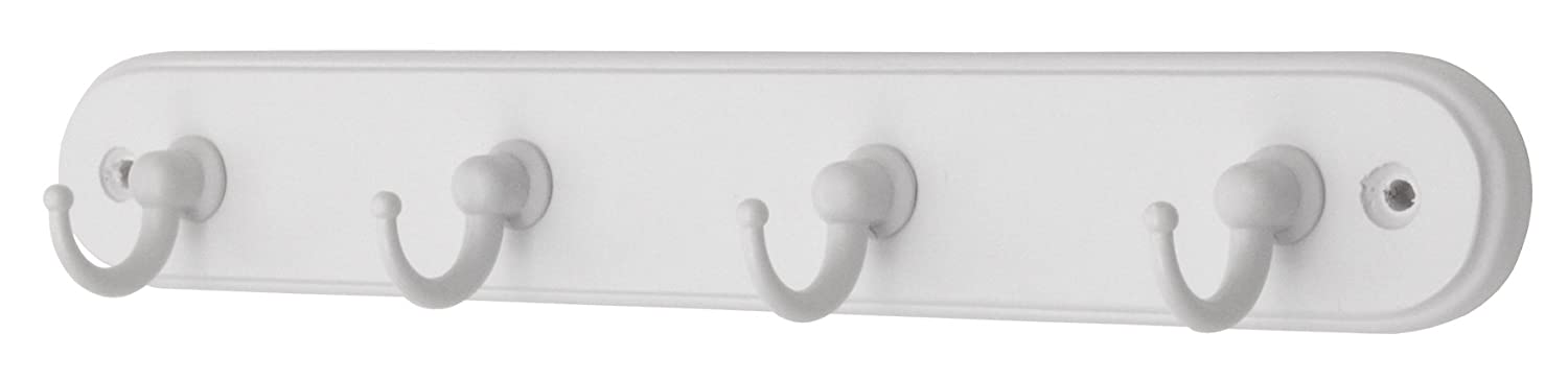 Headbourne Azhr4134 4-Chrome Hook Mini White Wooden Board Key Tidy Select Hardware