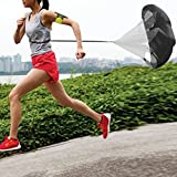 Baynne 56 Inch Running Speed Resistance Umbrella Exercise Speed Training Parachute