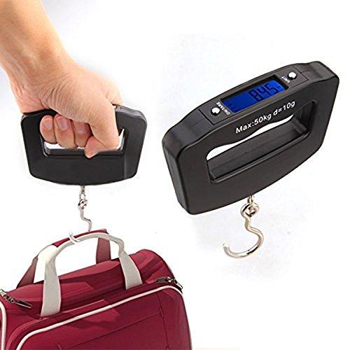 Smileto® 110lb/50kg High Quality LCD Portable Digital Luggage Scale