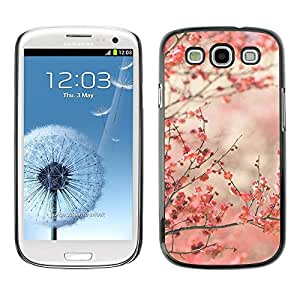 Estuche Cubierta Shell Smartphone estuche protector duro para el teléfono móvil Caso Samsung Galaxy S3 I9300 / CECELL Phone case / / Cherry Blossoms Pink Japan Tokyo /