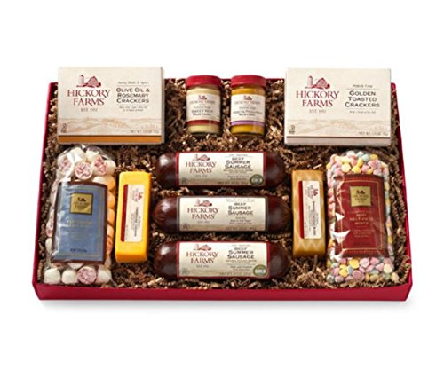 Hickory Farms Holiday Gift Box Summer Sausage Cheese Mints Cracker Set 4.1 Pounds by Hickory Farms
