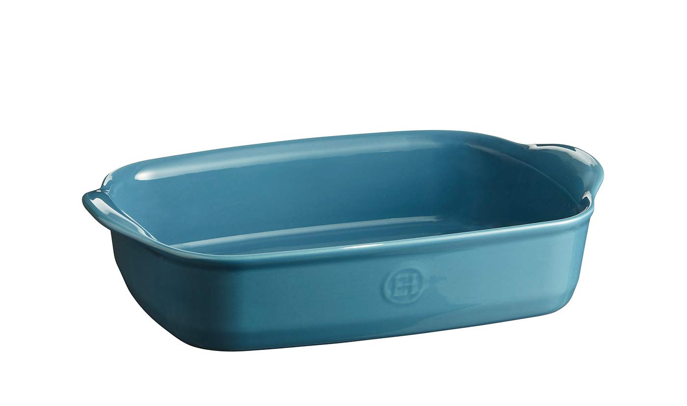Emile Henry EH609650 Small Oven, Mediterranean Blue rectangular baking dish, by Emile Henry