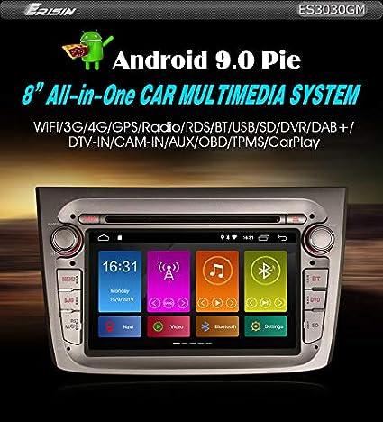 Autoradio Erisin Es3030gm 7 Zoll Android 9 0 Radio Gps Satnav 4g Dab Dsp Dvd Carplay Für Alfa Romeo Mito 2019