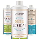 Oxyfresh Premium Pet Dental Care Solution (16oz): Best Way To Eliminate Bad Dog Breath & Cat Breath - Fights Tartar - Plaque & Gum Disease! - So easy - just add to water! Vet Recommended!
