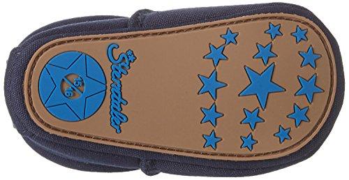 Sterntaler Baby-krabbelschuh - Zapatillas de casa Bebé-Niñas Azul Marino