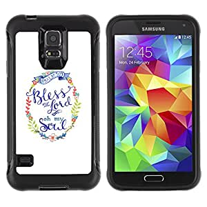 WAWU Rugged Armor Slim Protection Case Cover Shell -- lord god Christ Christian religion white wreath -- Samsung Galaxy S5 SM-G900