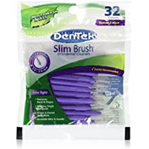 DenTek Slim Brush Interdental Cleaners | Brushes Between Teeth | Extra Tight Teeth | Mint Flavor | 32 Count