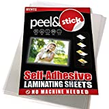 Pack of 50, Self-Adhesive Laminating Sheets, Clear Letter Size (9 x 12 Inches), 4 mil Thickness