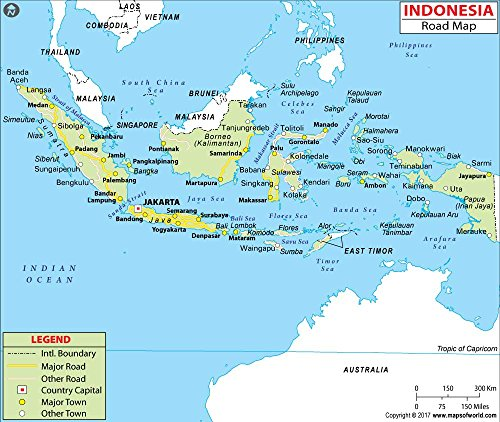 Indonesia Highway Map- Laminated (36