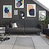 Product review for DHP Paxson Convertible Futon Couch Bed with Linen Upholstery and Wood Legs - Grey
