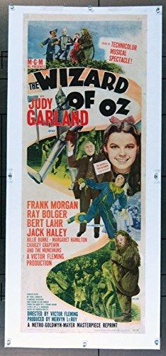 the-wizard-of-oz-1939-original-insert-movie-poster-14x36-paper-backed-judy-garland-frank-morgan-jack
