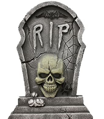 Light Up Tombstone Halloween Party Decorations