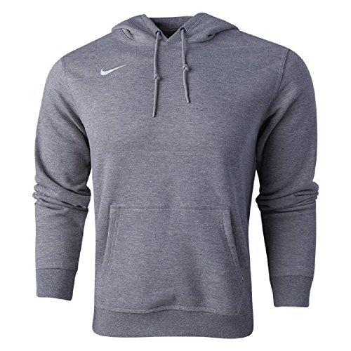 Nike Mens Club Fleece Hoodie (Small, Grey Heather/White)