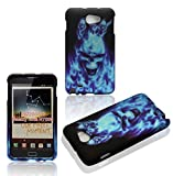 2D Blue Skull Samsung Galaxy Note I717 , i9220 Case Cover Hard Phone Case Snap-on Cover Rubberized Frosted Matte Surface Hard Shells