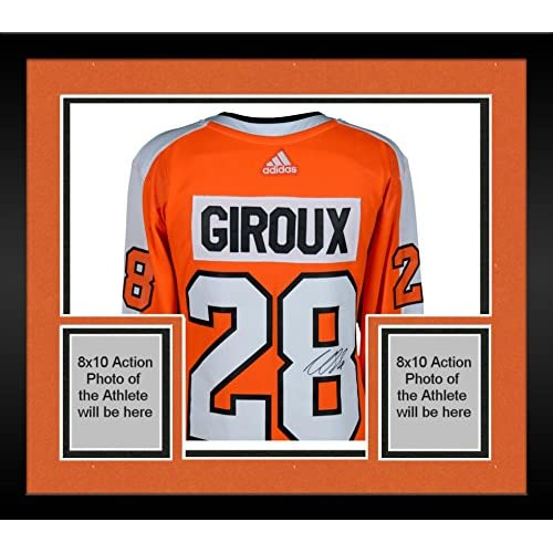 factory price 0eef9 af1a7 Framed Claude Giroux Philadelphia Flyers Autographed Orange ...