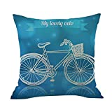 Cyhulu Kawaii 18x18 Inch Quote Throw Creative Cartoon Heart Print Square Pillow Case Cushion Cover Lover Gifts for Happy Valentine's Day Home Bed Sofa Living Room DIY Decoration (A, One size)