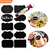 Chalkboard Labels 146 Pack, LeCoo Reusable Chalkboard Stickers with 1 Erasable Chalk Markers for Mason Jars,Spice, Glass, Cups, Bottles, Containers, Canisters, Waterproof Blackboard Vinyl Set w