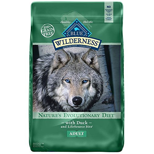 Blue Buffalo Wilderness Grain Free Dry Dog Food, Duck Recipe, 11-Pound Bag