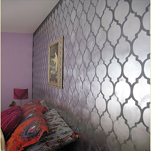 Cutting edge stencils moroccan stencil casablanca for for Wall paint buy online