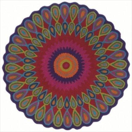 Trade-Am Vibrance Multi Round Rug, Pink, 7' 9