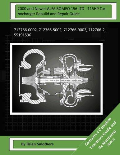Download 2000 and Newer ALFA ROMEO 156 JTD - 115HP Turbocharger Rebuild and Repair Guide: 712766-0002, 712766-5002, 712766-9002, 712766-2, 55191596 pdf