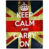London Canvas Print - Keep Calm And Carry On
