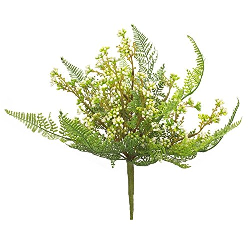 Club Pack of 12 Exquisite Springtime Artificial Fern Berry Pick 11'' by Melrose