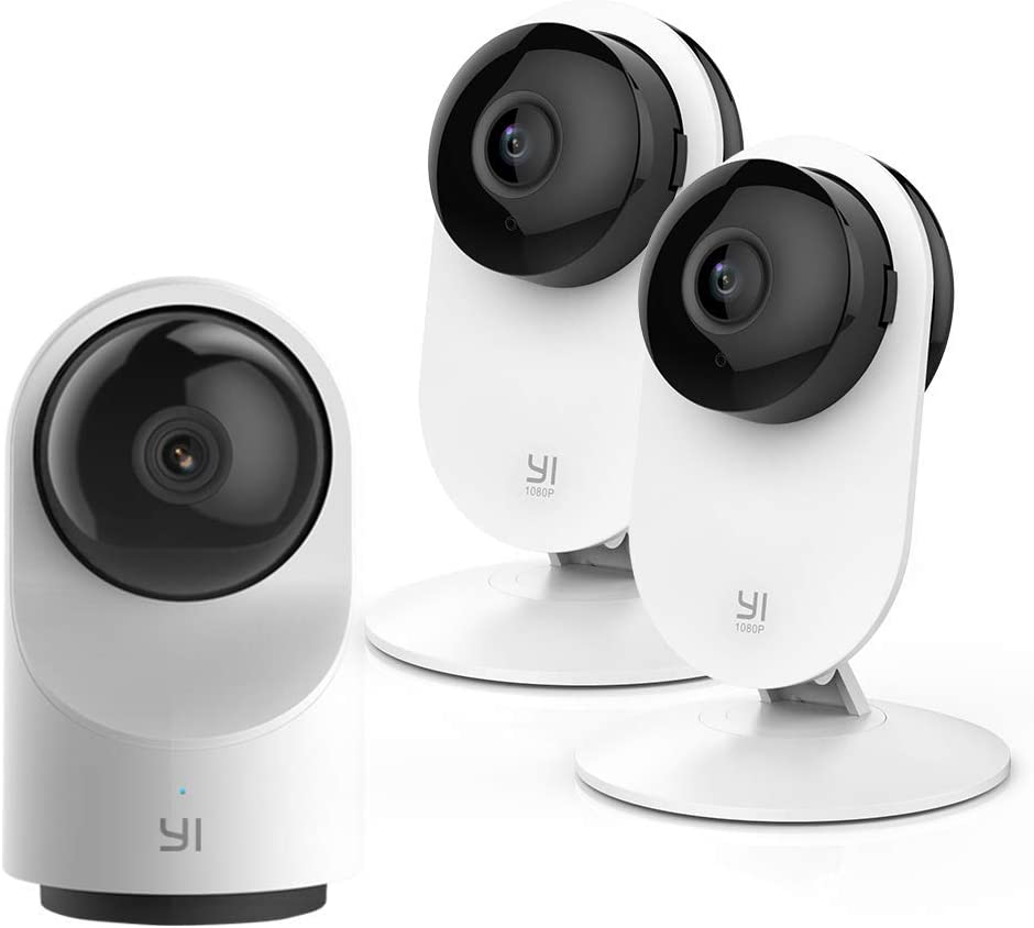YI Indoor Security Camera 1080p 2pc and Smart AI 1080P Dome Camera X Bundle Set, Home Surveillance System with Motion Detection and APP Alerts