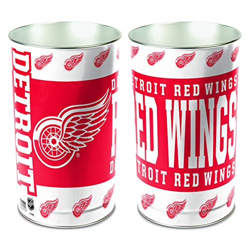 NHL Detroit Red Wings 15 Waste Basket, Team Color, One - Detroit Great American Wings Red