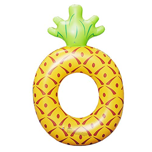 XWWS Inflatable Pineapple Swim Ring - PVC Inflatable Float Ball Toy, Creative Beach Leisure Toy for Kids and Adults (18211636 cm)