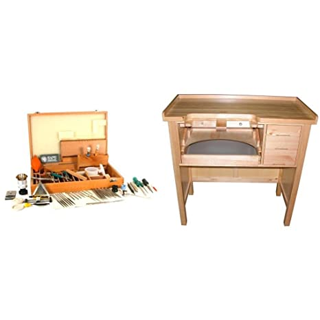 Astonishing Jewelers Work Bench With Case Of 64 Watch Repair Tools Beatyapartments Chair Design Images Beatyapartmentscom